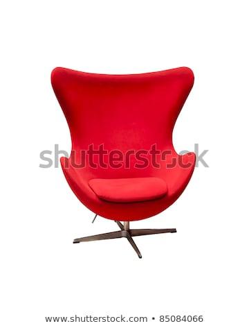 kırmızı · ofis · koltuğu · yalıtılmış · beyaz · ofis · dizayn - stok fotoğraf © maxpro