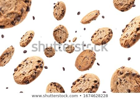 Cookie изолированный белый лице конфеты десерта Сток-фото © kornienko