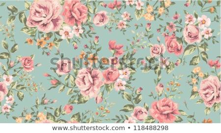 Vintage floral résumé design blanche feuille Photo stock © liliwhite