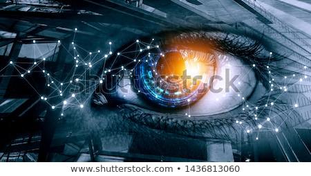 Toekomst zicht abstract futuristische oog midden Stockfoto © kovacevic