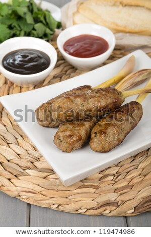 хлеб · пластина · изолированный · белый · текстуры · продовольствие - Сток-фото © compuinfoto