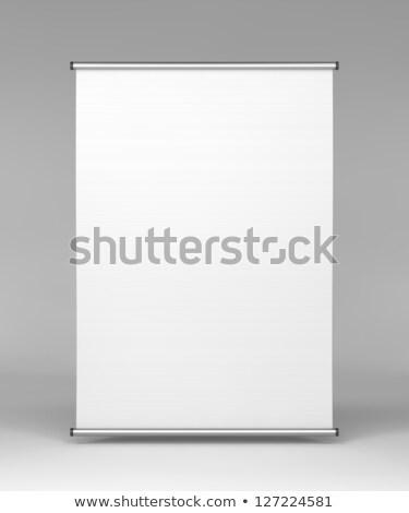 Square Flipchart on Grey Background. Stock photo © tashatuvango