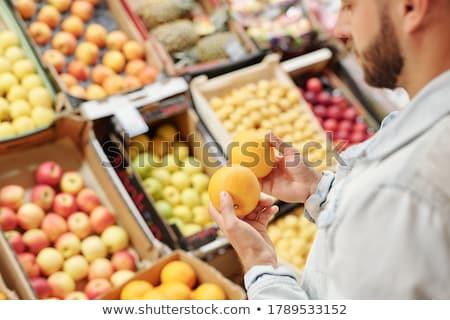 overvloed · vruchten · voedsel · appel · oranje · Rood - stockfoto © M-studio