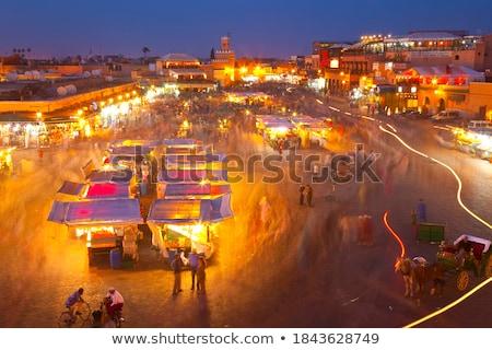 квадратный сердце свет улице толпа путешествия Сток-фото © rmarinello