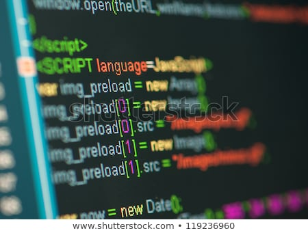 Code of CSS language on LCD screen Stock photo © simpson33