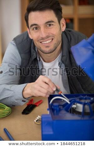 Portret neutralny handlowiec budowy pracy pracownika Zdjęcia stock © photography33