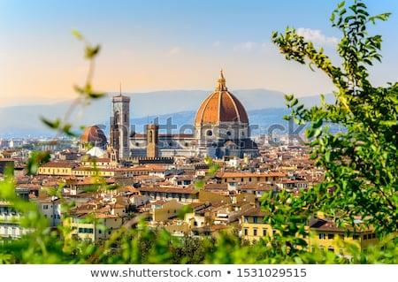 Stock fotó: Kilátás · Florence · kupola · város · tető · város