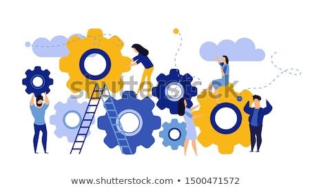 Vision · Strategie · Zahnräder · Menschen · Erfolg · Team - stock foto © lightsource