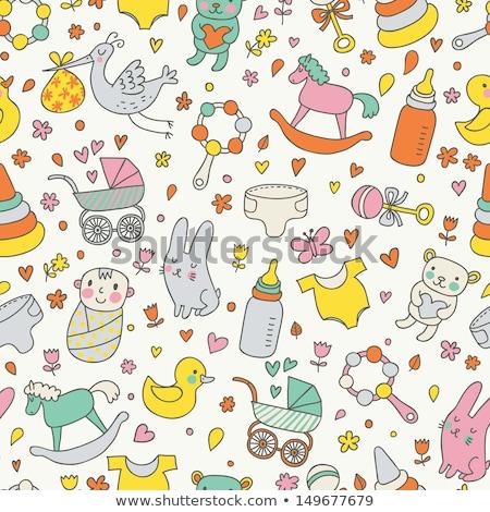 Puéril texture enfants enfant design Photo stock © balasoiu