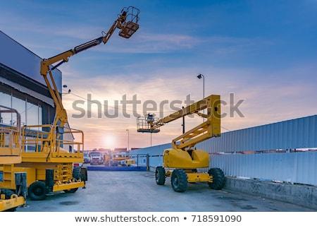 kraan · vrachtwagen · haak · geïsoleerd · witte · hemel - stockfoto © zerbor