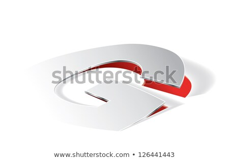 Paper folding with letter G in perspective view Stock photo © archymeder