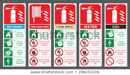 Fire safety sign fire hose and fire water Stock photo © Ustofre9