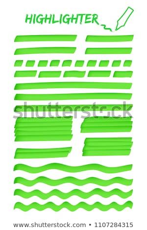 緑 蛍光ペン ペン 白 学校 色 ストックフォト © chrisdorney