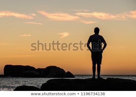 tengerpart · naplemente · színek · nap · Fokváros · felhők - stock fotó © bradleyvdw