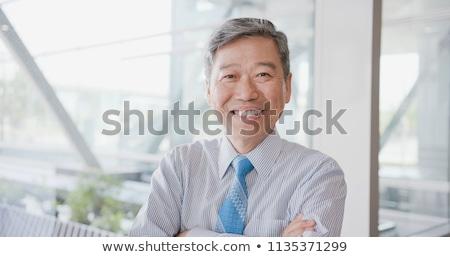 ブルネット · 幸せ · 男 · 黒い髪 · スマートフォン - ストックフォト © feedough
