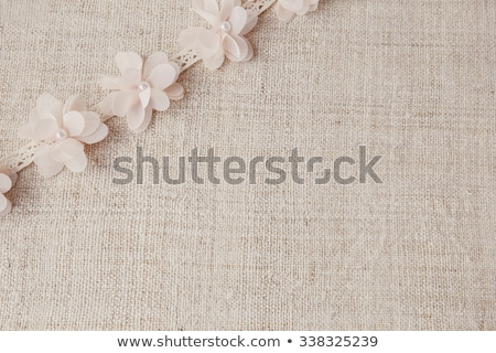 Natural rustic linen with lace Stock photo © gavran333