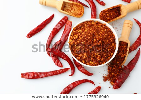 grounded red pepper in white cup Stock photo © ojal