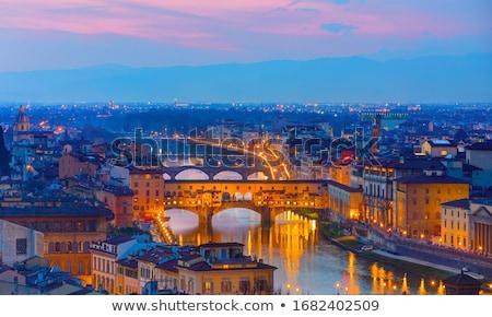 Флоренция Cityscape сумерки небе закат Церкви Сток-фото © Elnur