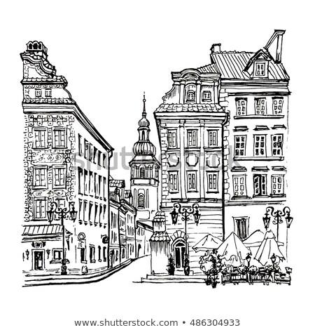 старые колокола квадратный старый город Варшава бронзовый Сток-фото © marekusz