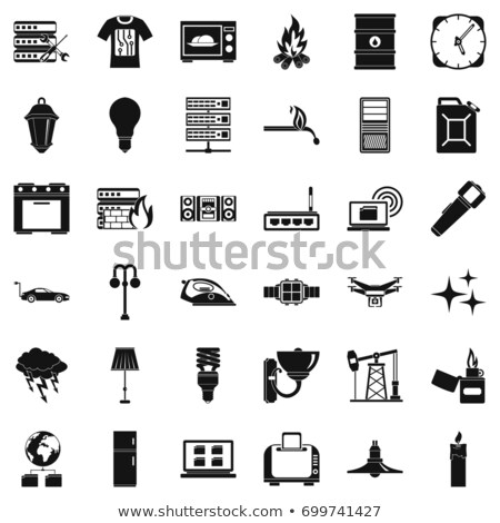 black drop server icons Stock photo © SergeyT