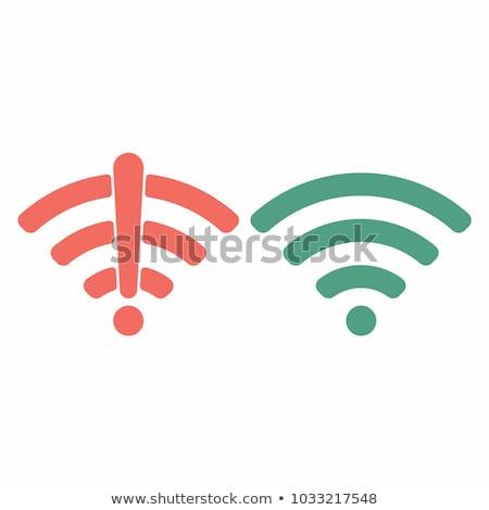 Renkli wifi işaretleri ayarlamak vektör soyut Stok fotoğraf © burakowski