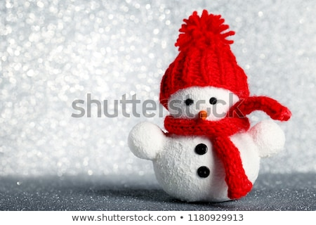 cute snowman doll stock photo © gllphotography