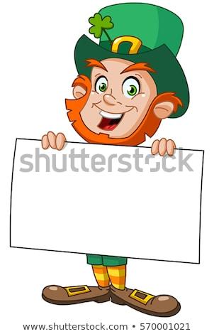 Leprechaun Blank Sign Stock photo © Lightsource