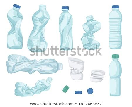 Használt műanyag üvegek víz háttér ipar Stock fotó © antonihalim