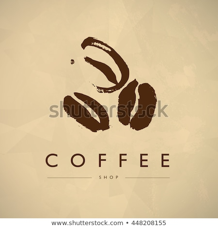 Stock photo: coffee beans background and old paper