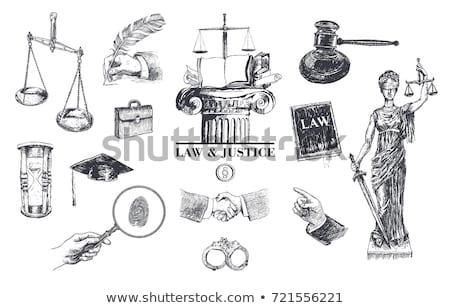 Legal System Concept - Magnifying Glass. Stock photo © tashatuvango