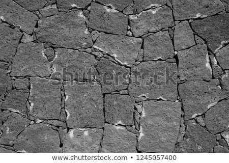 typical wall made seamless from volcanic stone  Stock photo © meinzahn