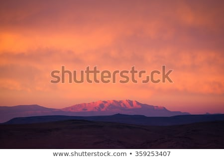 landscape in atlas mountains in sunset in marocco stock photo © meinzahn