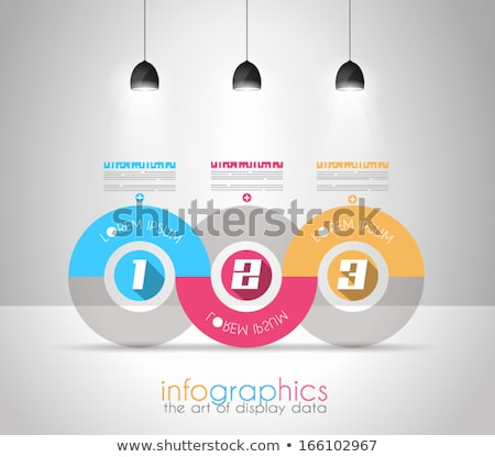 Infographic Design Template with modern flat style. Ideal to display data and for product ranking or Stock photo © DavidArts