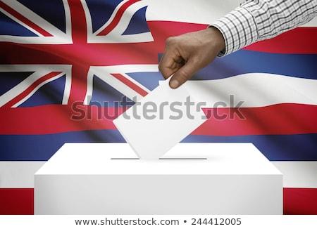 amerikan · oylama · kutu · seçim · kırmızı · beyaz - stok fotoğraf © ustofre9