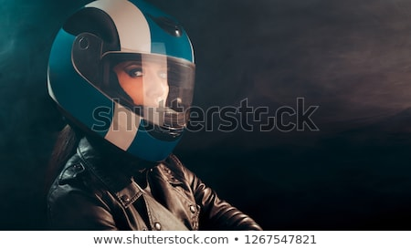 girl motorcyclist  Stock photo © adrenalina