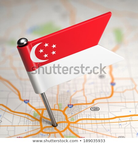 Singapore · vlag · kaart - stockfoto © tashatuvango