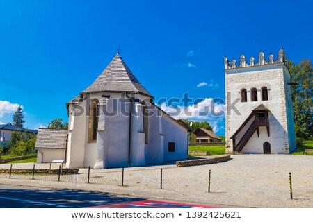 Castelo Eslováquia edifício arquitetura europa ao ar livre Foto stock © phbcz