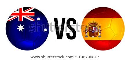Australië vs Spanje groep fase wedstrijd Stockfoto © smocker03