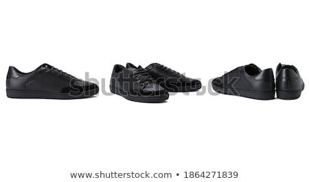 Preto fetiche sapatos isolado branco sensual Foto stock © Elisanth