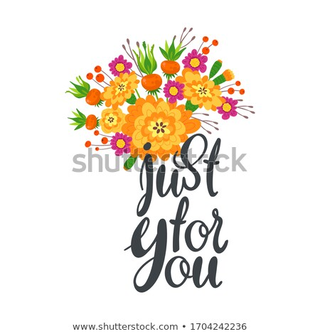 Just For You on Orange in Flat Design. Stock photo © tashatuvango