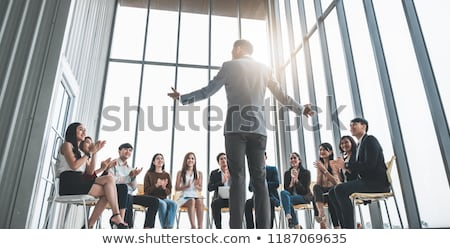 geslaagd · baas · portret · senior · zakenman · aanraken - stockfoto © pressmaster