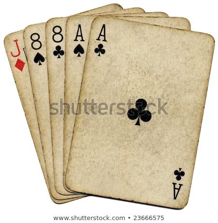 Geïsoleerd dode poker hand kaarten games Stockfoto © njnightsky