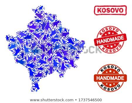 Kosovo vermelho carimbo isolado Foto stock © tashatuvango