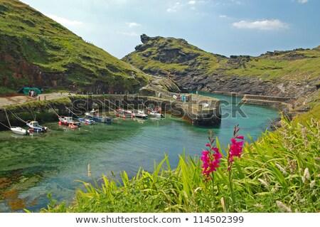 Kikötő Cornwall észak Anglia tenger kék Stock fotó © chris2766