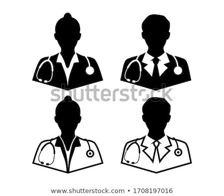 Mężczyzna lekarz stetoskop opieki zdrowotnej zawód muzyka biały Zdjęcia stock © dolgachov