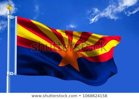 Arizona wenig Flagge Karte selektiven Fokus Hintergrund Stock foto © tashatuvango