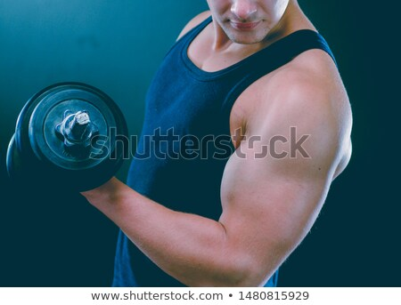 man lifts dumbells stock photo © arenacreative