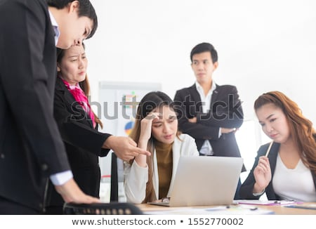 Stress and headache after brainstorming Stock photo © Novic
