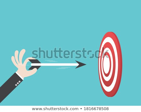 Credit - Arrows Hit in Red Target. Stock photo © tashatuvango