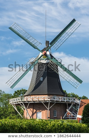 windmills in northern germany stock photo © w20er